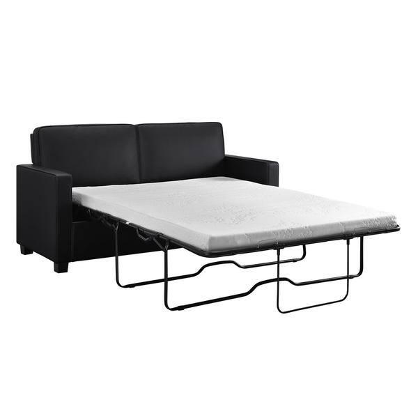 Fabulous Shop Porch Den Broward Black Faux Leather Queen Sleeper Machost Co Dining Chair Design Ideas Machostcouk