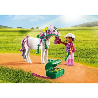 Playmobil Groomer With Heart Pony Playset