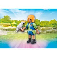 Playmobil Multicolor Plastic Animal Trainer With Cockatoo