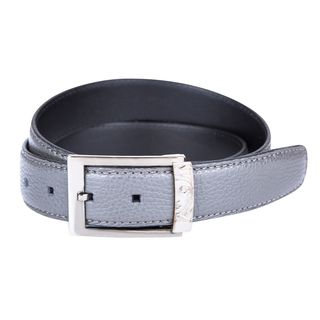 Versace Collection Men's Grey Leather Belt