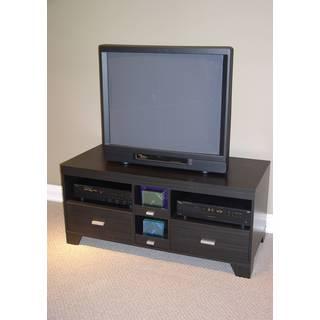 Black Wood 2-drawer TV Stand