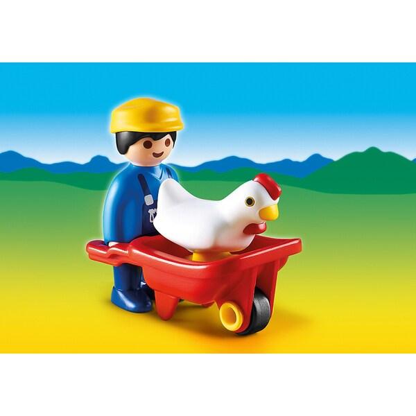 Playmobil PM6793 Farmer with Wheelbarrow