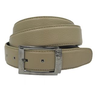Versace Collection Men's Beige Leather Belt