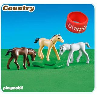 PlayMobil Foals With Feed Multicolor Plastic Figures