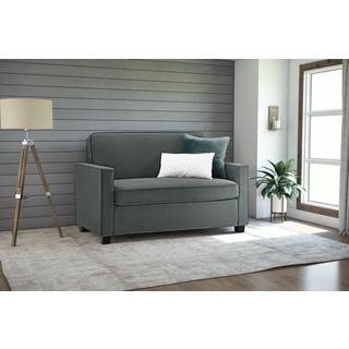 Clay Alder Home Isleton Grey Velvet Twin Sleeper Sofa