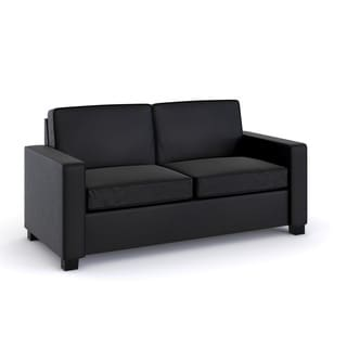 DHP Signature Sleep Casey Black Faux Leather Full Sleeper Sofa