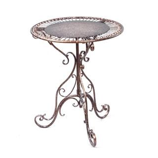 Bronze Metal Decorative Accent Table