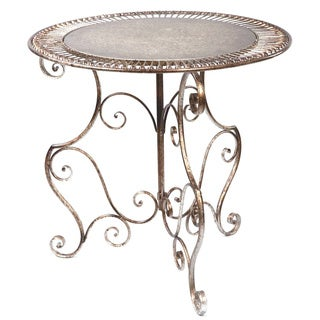 Shop Bronze Metal Round Decorative Accent Table Free
