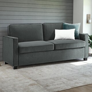 DHP Signature Sleep Casey Grey Velvet Queen Sleeper Sofa