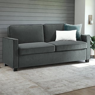 DHP Signature Sleep Casey Grey Velvet Full Sleeper Sofa
