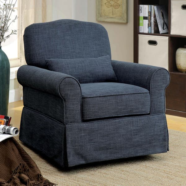 Superb Shop Furniture Of America Shyla Linen Like Swivel Glider Caraccident5 Cool Chair Designs And Ideas Caraccident5Info