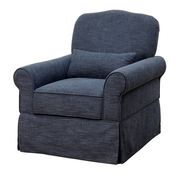 Super Shop Furniture Of America Shyla Linen Like Swivel Glider Caraccident5 Cool Chair Designs And Ideas Caraccident5Info