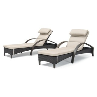 Barcelo Chaise Lounge Slate Grey by RST Brands (Set of 2)