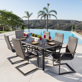 Barcelo Brown Wicker 7-piece Outdoor Dining Set by RST Brands