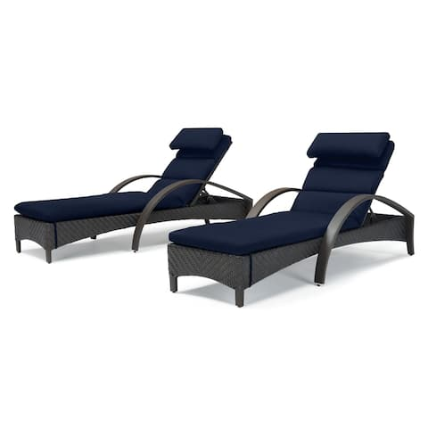 Barcelo Chaise Lounge in Navy Blue by RST Brands (Set of 2)