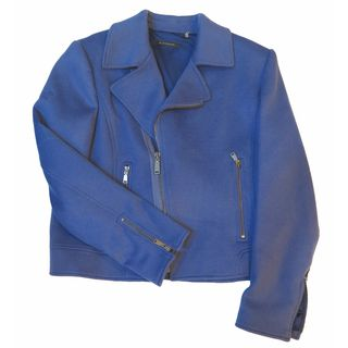 Elie Tahari Mae Blue Wool X-large Coat