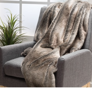 Merveilleux Toscana Faux Fur Throw By Christopher Knight Home