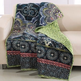 Barefoot Bungalow Twyla Midnight Quilted Throw