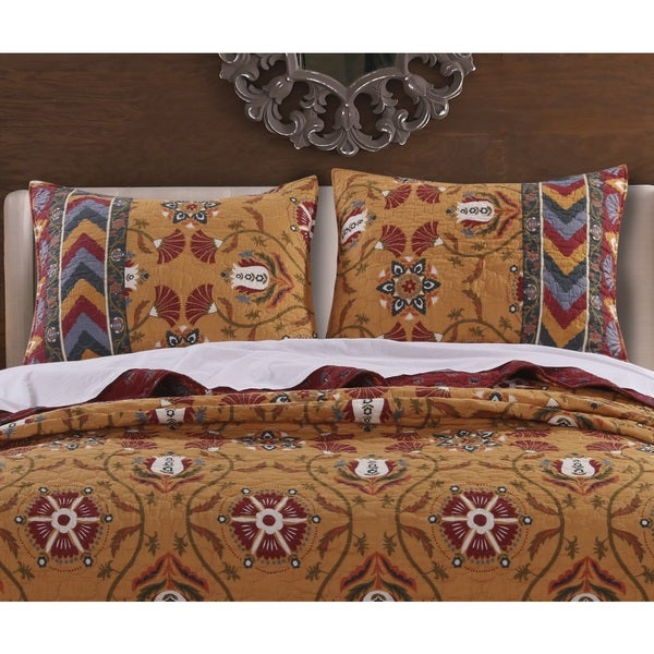 Greenland Home Fashions Farrah Pillow Shams, set of two (2)
