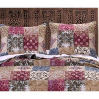 Greenland Home Fashions  Charmed Cranberry Pillow Shams, set of two (2)