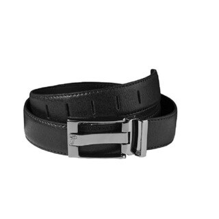 Versace Collection Black Grained Leather Belt