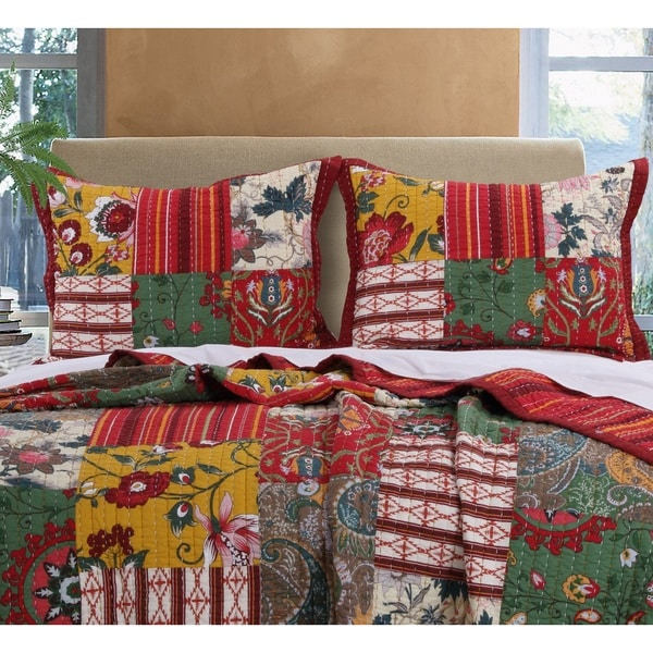 Greenland Home Fashions Arcadia Pillow Shams, set of two (2)