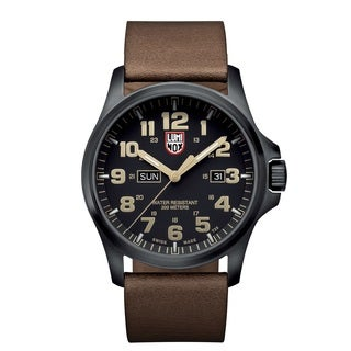 Luminox Atacama Field Black Dial Stainless Steel Leather Quartz Men's Watch 1929