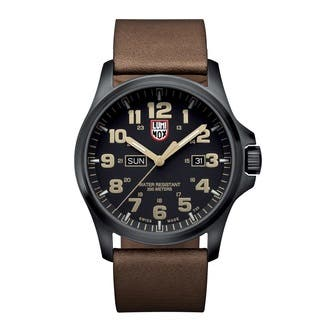 Luminox Atacama Field Black Dial Stainless Steel Leather Quartz Men's Watch 1929|https://ak1.ostkcdn.com/images/products/13621538/P20292386.jpg?impolicy=medium