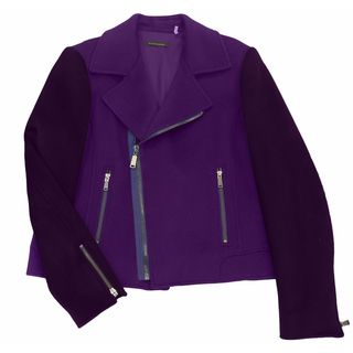 Elie Tahari Women's Mae Purple Wool XL Coat