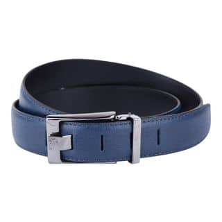 Versace Collection Blue Grained Leather Belt|https://ak1.ostkcdn.com/images/products/13621543/P20292380.jpg?impolicy=medium