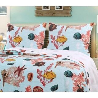 Greenland Home Fashions  Big Island Pillow Shams, set of two (2)