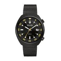 Bulova Men's  Accutron II Analog Japanese Quartz Black Watch