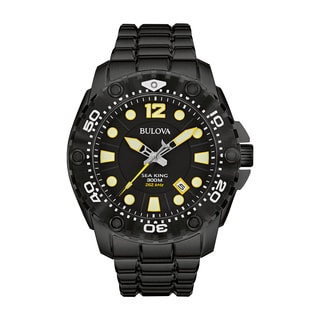 Bulova Men's 98B242 Sea King Analog Display Japanese Quartz Black Watch