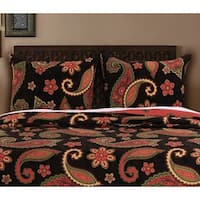 Greenland Home Fashions  Midnight Paisley Pillow Shams, set of two (2)