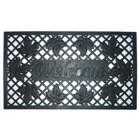 """18x30 Wrought Iron Rubber - Lattice and Leaves - 1'6"""" x 2'6"""" - 1'6"""" x 2'6"""""""
