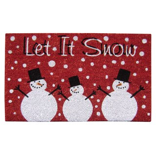 SuperScraper 'Let it Snow' Multicolor Vinyl Coir Doormat (18 in. x 30 in.)