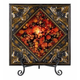 25-watt Lighted Painted Glass Plate