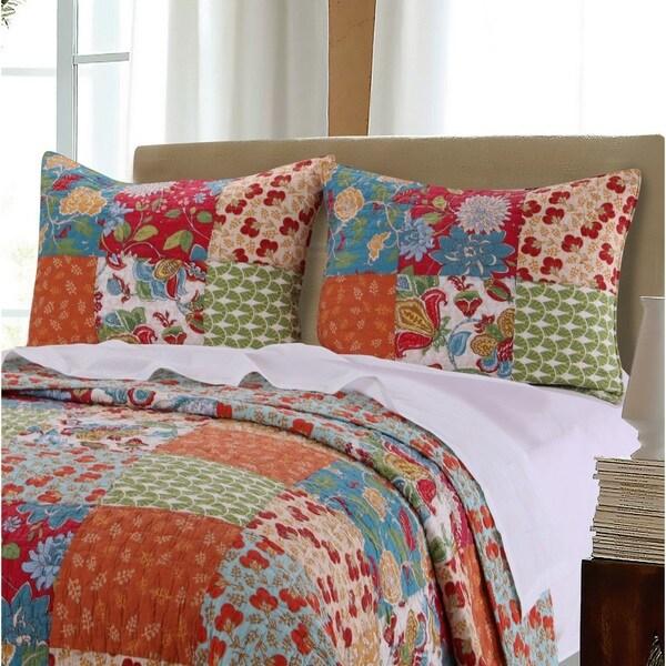 Greenland Home Fashions  Terra Blossom Pillow Shams, set of two (2)
