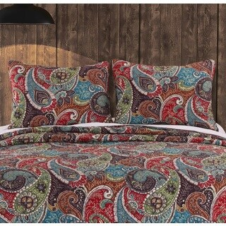 Greenland Home Fashions Tivoli Pillow Shams, set of two (2)
