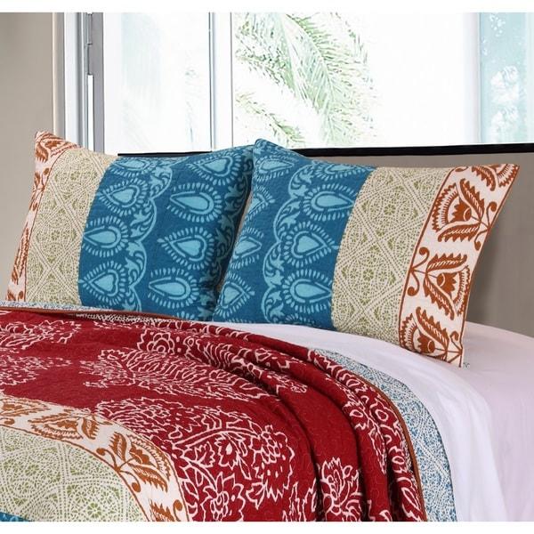 Greenland Home Fashions Kianna Pillow Shams, set of two (2)