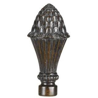 Pinecone Brown Resin Finial