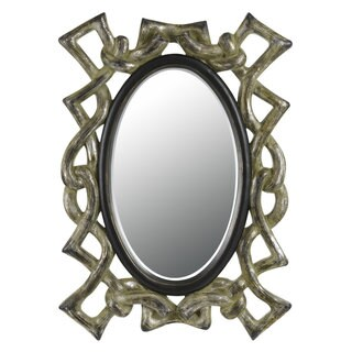Popoli Grey Rectangular Bevel Mirror
