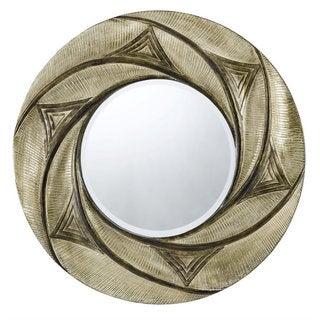 Ponza Bronze Geometric Textured Wall Mirror