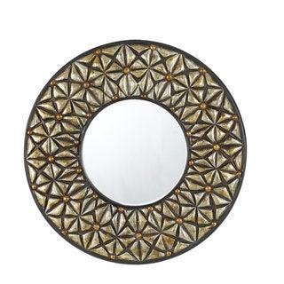 Slano PU Round Beveled Mirror