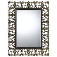 Ormond Bronze/Silver Polyurethane Beveled Glass Mirror