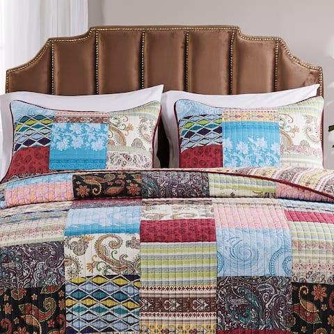 Greenland Home Fashions Bohemian Dream Pillow Shams, set of two (2)