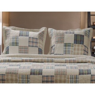 Greenland Home Fashions Oxford Pillow Shams, set of two (2)