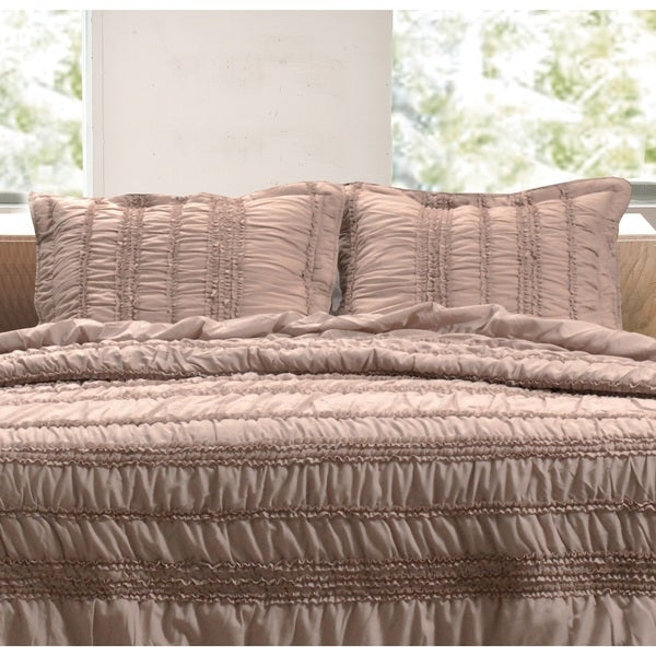 Greenland Home Fashions  Tiana Taupe Pillow Shams, set of two (2)