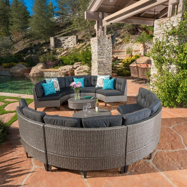 Outdoor Wicker Sectional Sofa For Sale: Shop Navagio Outdoor 10-piece Wicker Sofa Set With