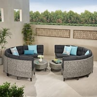 Navagio Outdoor 10-piece Wicker Sofa Set with Cushions by Christopher Knight Home